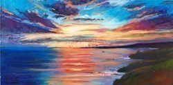 Poldark Sunset by Timmy Mallett -  sized 24x12 inches. Available from Whitewall Galleries